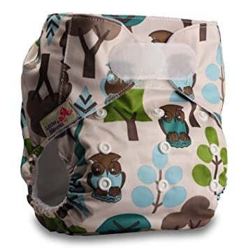 Pattern 52 Set of 1 Fastener: Hook-Loop with 1 Bamboo Insert Reusable Pocket Cloth Nappy Littles /& Bloomz