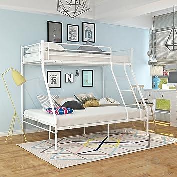 Keinode Etagenbett Aus Metall, 90 Cm, Einzelbett, 140 Cm, Doppelbett Für 3