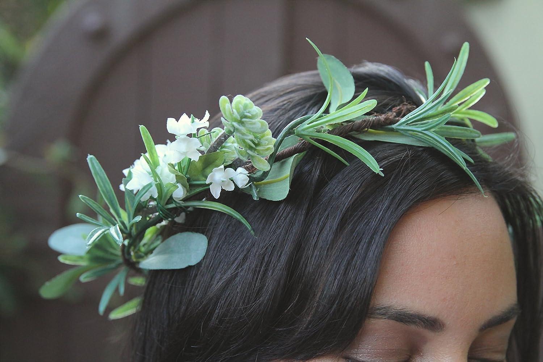 Amazon green flower crown greenery flower crown green bridal greenery flower crown green bridal crown green wedding crown flower crown wedding crown handmade izmirmasajfo