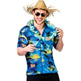 "Hawaiian Shirt (Blue Palm Trees) - Adult Accessory Man: L (Chest: 44"")"