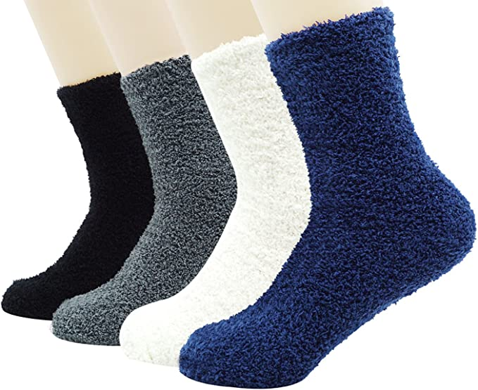 New Mens Bed Socks Winter For Warmth /& Comfort Available in 4 Colours UK 6-11
