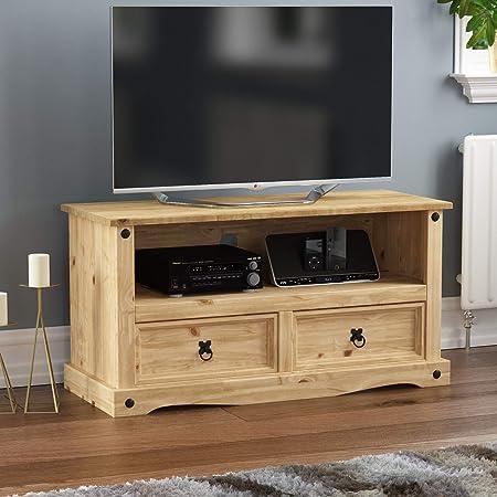 Vida Designs Mueble para TV de Pantalla Plana, Pino Mexicano, Modelo Corona: Amazon.es: Hogar