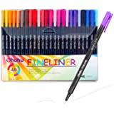 Ohuhu 48 Colors Fineliner Pens 0.4mm Colored Fine Line Marker Marking Pen for Journal Book Sketch Drawing Fine Liner Coloring Book