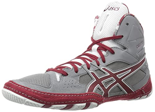 cf569e0a60a6 ASICS Cael V7.0 Wrestling Shoe Aluminum Burgundy White 7 D(M) US  Buy  Online at Low Prices in India - Amazon.in