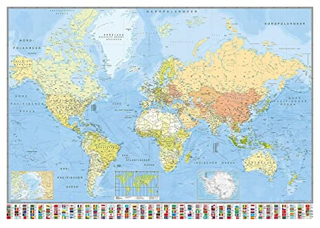 Amazon.com: Close Up World Map Poster Huge 140x100cm (140cm ...