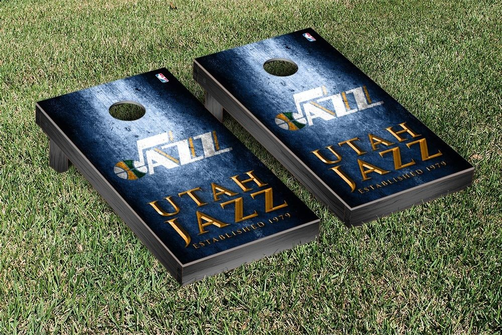 Utah Jazz NBA Basketball Regulation Cornhole Game Set Museum Version