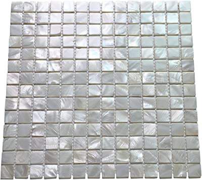 Art3d 10 Pack Oyster Mother Of Pearl Square Shell Mosaic For Kitchen Backsplashes Bathroom Walls Spa Tile Pool Tile