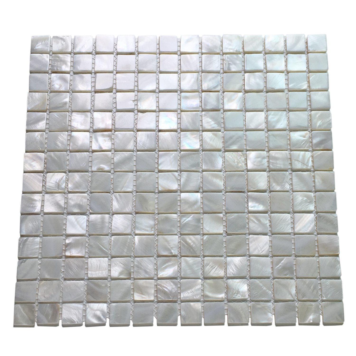 Art3d 10-Pack Oyster Mother of Pearl Square Shell Mosaic for Kitchen Backsplashes, Bathroom Walls, Spa Tile, Pool Tile by Art3d