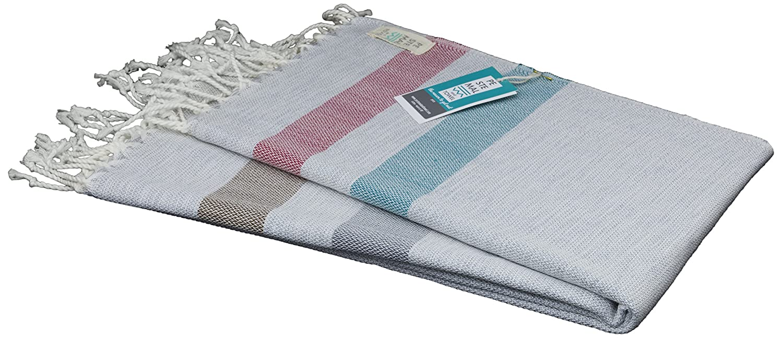 Pestemal and Towel Manta 100 % de algodón Natural, Toalla pestemal de Secado rápido, Color Fucsia, 100 cm x 180 cm, algodón, AMPHITRITE Light Grey BGRP, ...