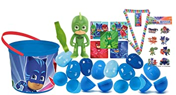 PJ Mask Inspired Toy-Filled Easter Eggs with Matching Easter Egg Loot Bucket! Plus