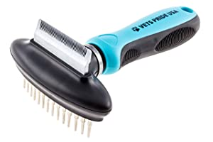 2. Vets Pride USA 2-in-1 Deshedding Comb and Undercoat Rake