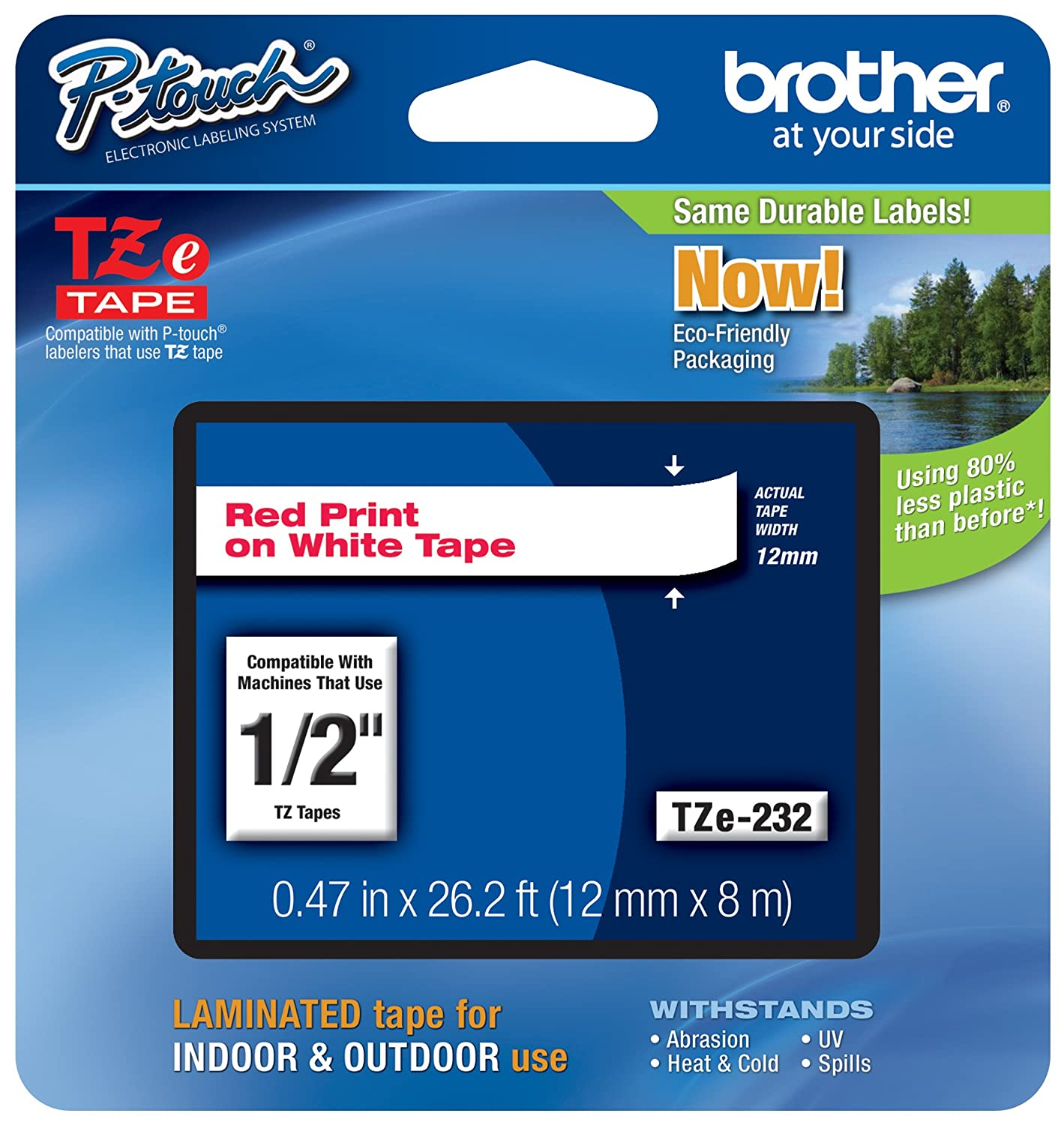 Brother Laminated Tape, 12mm (0.47 Inch), White on Berry Pink (TZeMQP35) - Retail Packaging Brother Printer