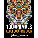 100 Animals: An Adult Coloring Book with Lions, Elephants, Owls, Horses, Dogs, Cats, and Many More! (Animals with Patterns Co