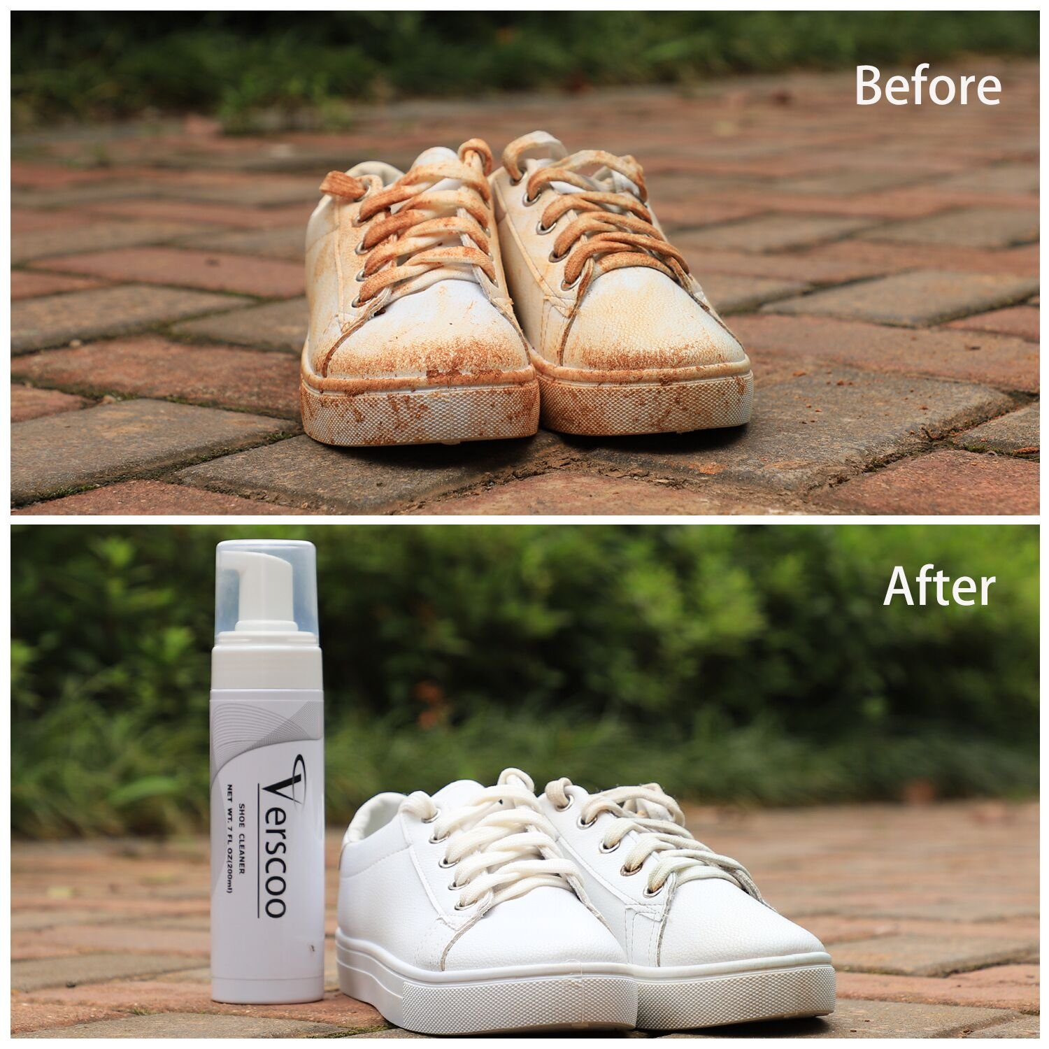 Shoe Cleaner Kit, Verscoo Fabric Cleaner Solution 7 Oz for Leather, Sneaker and Mesh Shoes by Verscoo (Image #5)