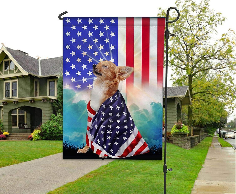 nicole Chihuahua American Patriot Flag House Flag Garden Flag (Garden Flag 11.5