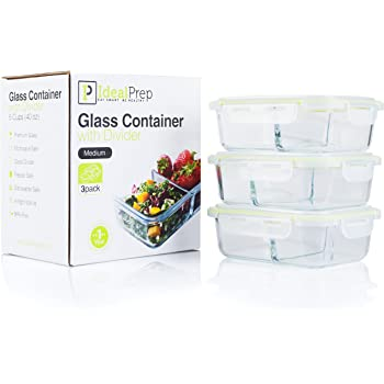 Amazon.com: Glass Meal Prep Food Storage Containers Set