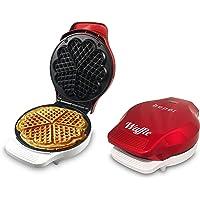 Beper BT.603Y wafelmaker hart, 1000 W, roestvrij staal, rood
