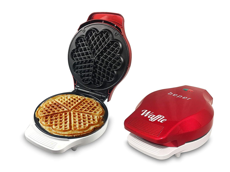 Beper, Macchina per Waffle a forma di cuore, rosso 90.602