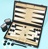 Backgammon set, leatherette 12 inch 00458