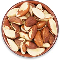 Secret Garden`s Raw Fresh Brazil Nuts, Whole and Unsalted Nuts, No Shell in Reseable Bag(1LB)