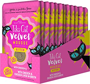 Tiki Cat Velvet Mousse Grain Free Wet Food with a Silky Smooth Texture for Adult Cats & Kittens