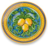 Umbria Hand Painted Limone Ceramic Pasta Bowl from Italy