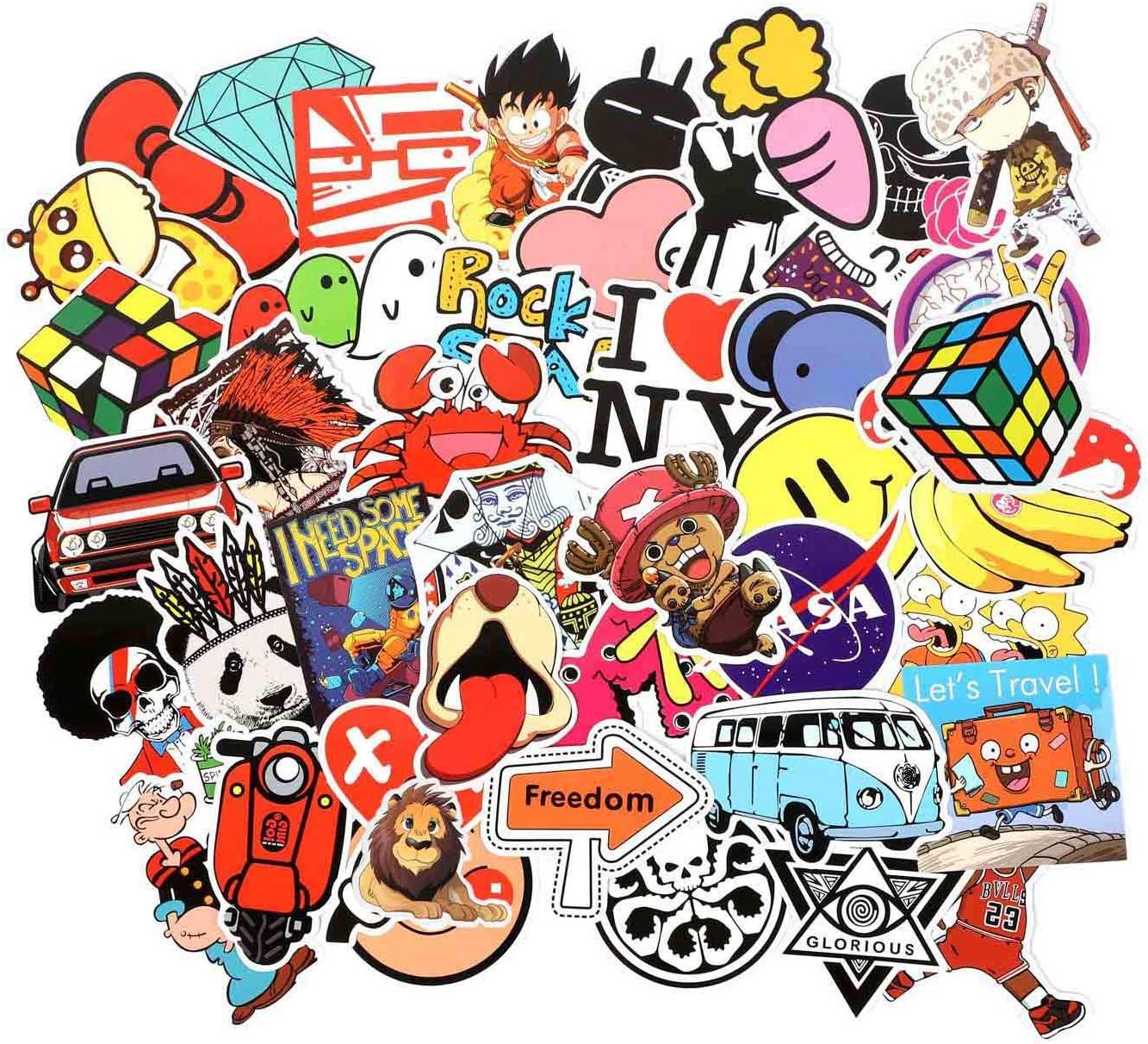Details about  /Random Graffiti Stickers Kids Child Cartoon Sticker Laptop Skateboard Decals