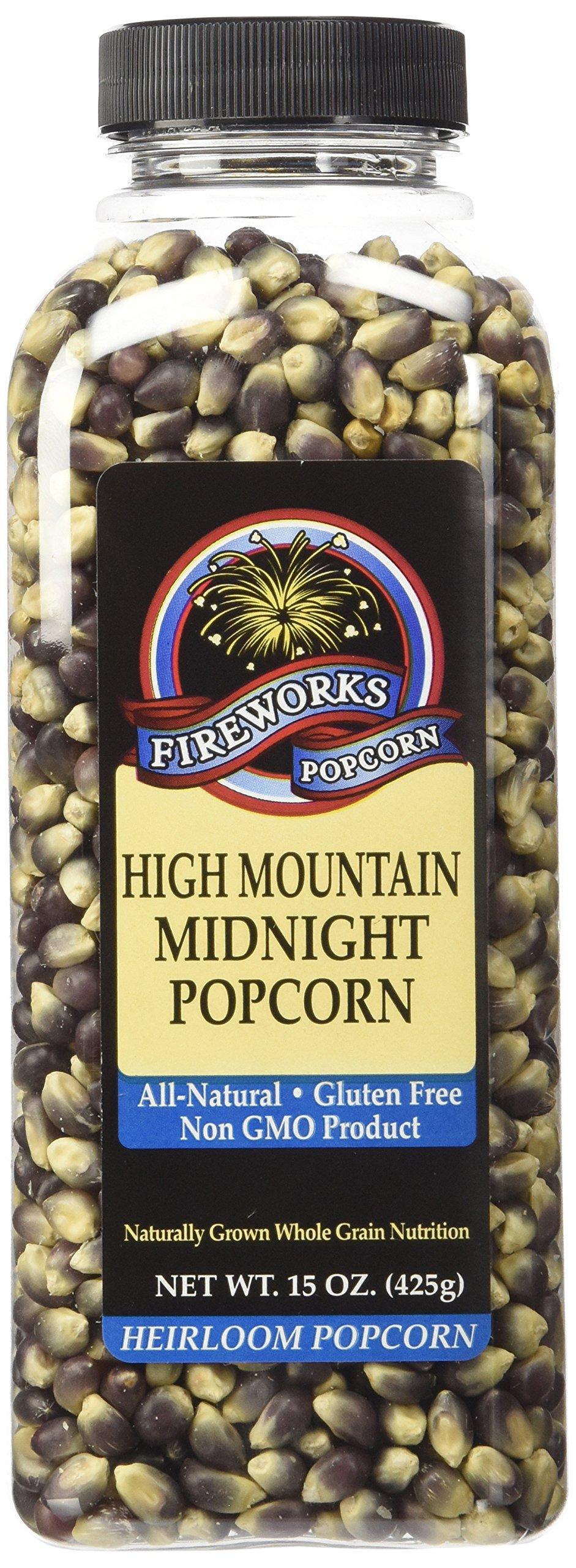 Fireworks Popcorn High Mountain Midnight Popcorn, 15-Ounce Bottles (Pack of 6)
