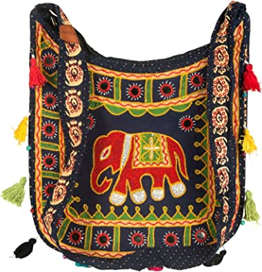 Crossbody Shoulder Hobo Messenger Elephant Bag Colorful Travel Books Casual