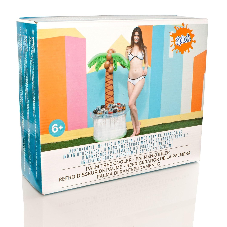 Splosh - Nevera para bebidas, hinchable, diseño de palmera: Amazon ...