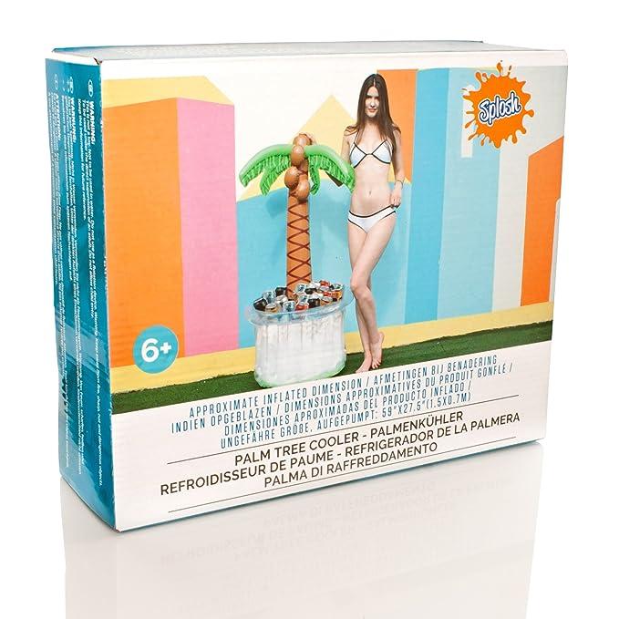 Splosh - Nevera para bebidas, hinchable, diseño de palmera: Amazon.es: Deportes y aire libre