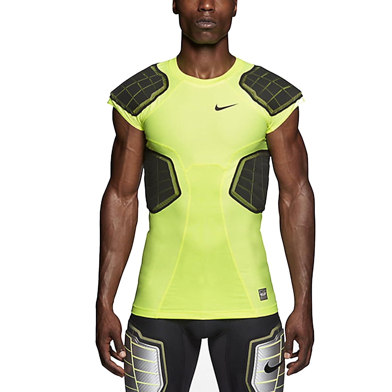 Amazon.com: Nike Men's Pro Hyperstrong 3.0 Compression 4-Pad Football Shirt  (XXXX-Large, Volt/Black): Sports & Outdoors