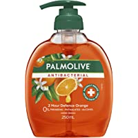 Palmolive Antibacterial Liquid Hand Wash Soap Orange 2 Hour Defence Pump 0% Parabens Recyclable, 250mL
