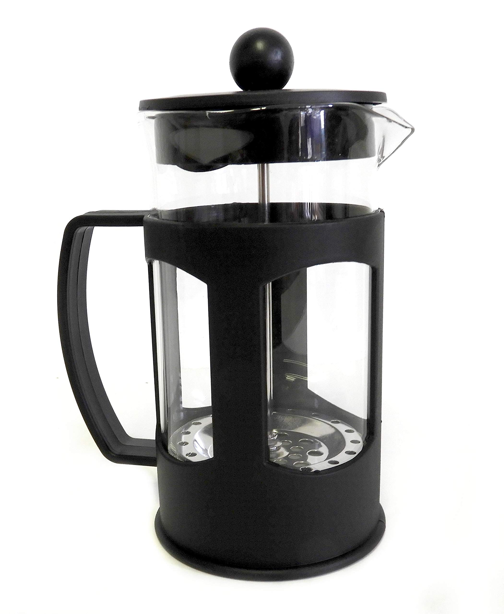 French Press with Protective Plastic Exterior - Brew Fresh Coffee and Tea 20 Oz by Home Style