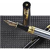 Stylo plume Dryden Luxury [ARGENT] | Moderne classique édition limitée | Ensemble de stylos plume de cadres | Collection de stylos vintage | Stylo idéal comme cadeau professionnel | Calligraphie| Convertisseur à recharge d'encre