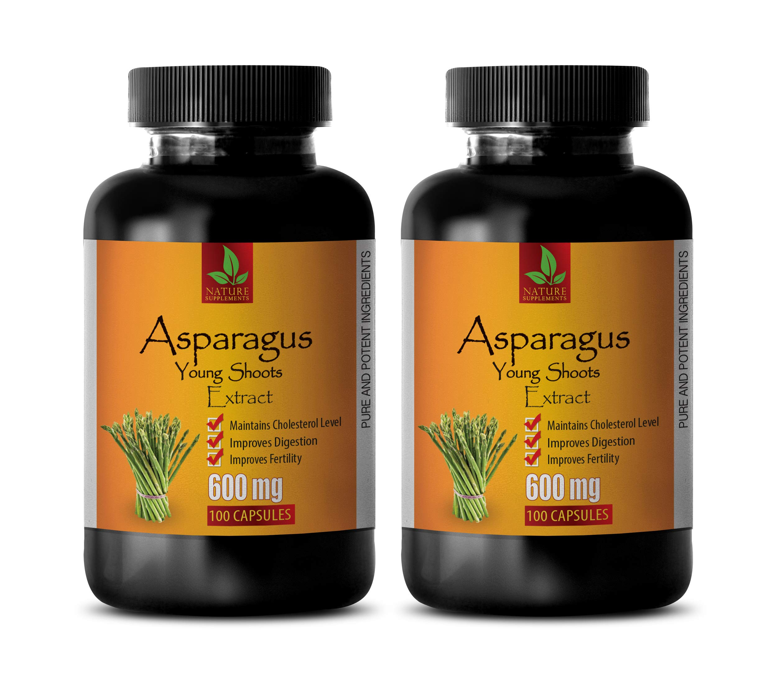 Heart Health Supplements for Women - Asparagus Young Shoots Extract 600 MG - Pure and Potent Ingredients - antioxidant Weight Loss - 2 Bottles 200 Capsules