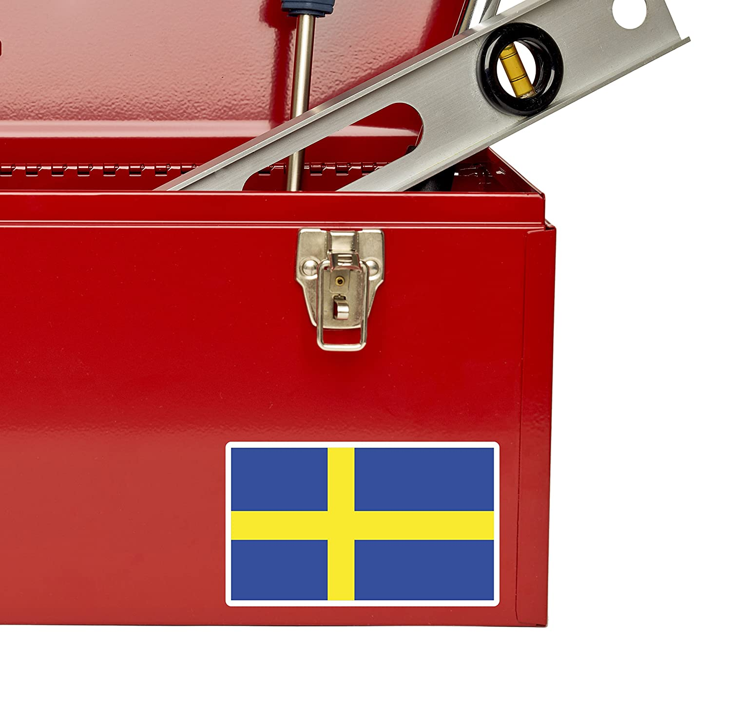 2 x Sweden Swedish Flag Vinyl Sticker Laptop Travel Luggage Car #5267