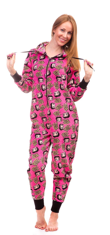 802975c3e Betty Boop Women s Warm and Cozy Plush Onesie Pajama at Amazon ...