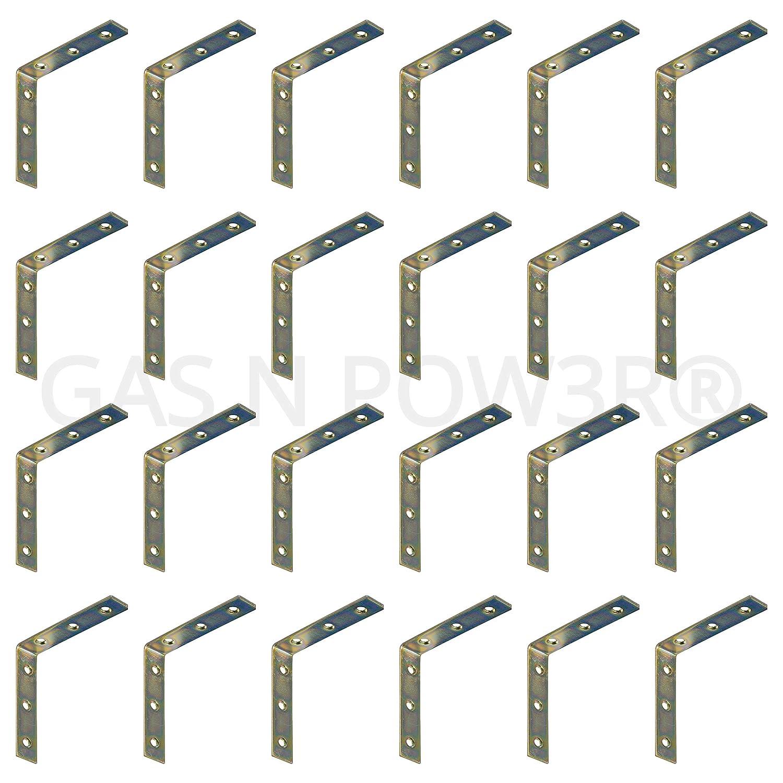 "Support Fixing Repair Flat Corner Right Angle Plate Bracket Brace 8x 100mm 4/"""
