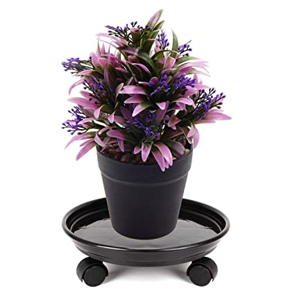 Plant Dolly Rolling Caddy Planter Holder Stand Garden Wheels Roller Moving Green