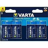 Varta Longlife Power Batterie D Mono Alkaline Battere LR20 4er Pack (Design/Produktname kann abweichen)