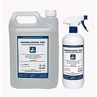 Hand Alcohol Desinfectie Spray 70% Gedenatureerd met IPA, MEK en Bitrex - 1 liter met spraykop + 5 liter