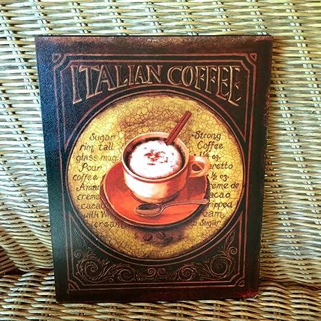 Blechschild Kaffee Cafe Schild Kaffeetasse wie Emaille Bild für die Küche