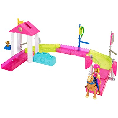 Barbie On the Go Pony Race Motorized Track Set: Toys & Games