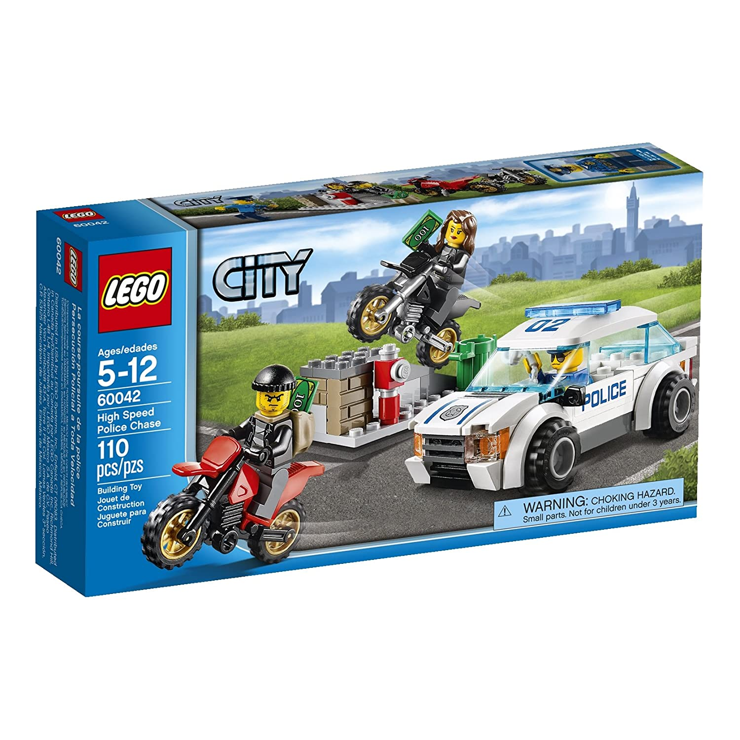 LEGO City High Speed Police Chase [60042 - 110 pcs]: Amazon.es: Juguetes y juegos