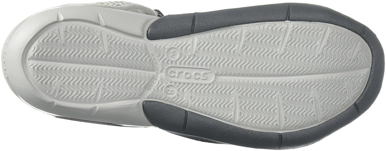 Crocs Women's Swiftwater Graphic Mesh Sandal B071WCWN5G 10 M US|Grey Diamond