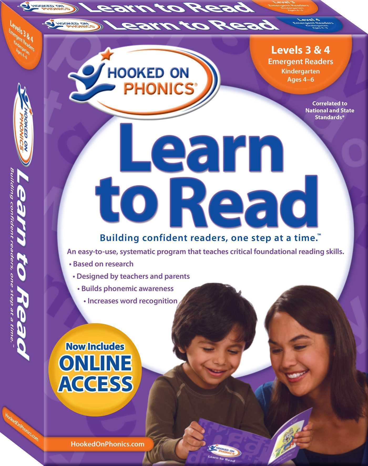 Hooked on Phonics Learn to Read - Levels 3&4 Complete: Emergent Readers (Kindergarten | Ages 4-6) (Learn to Read Complete Sets) by Hooked on Phonics