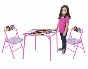 Nickelodeon Dora and Friends Table and Chair Set (3-Piece)  sc 1 st  Amazon.com & Amazon.com: Nickelodeon Dora and Friends Table and Chair Set (3 ...