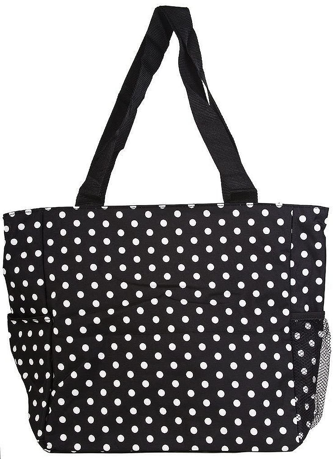 Handmade beach bag Multi Dots pCK2e