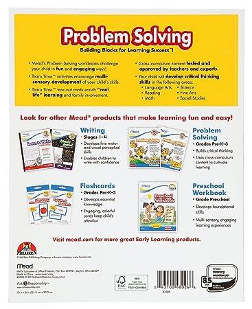Amazon.com : Mead Kindergarten Problem Solving Workbook, 10 x 8 ...